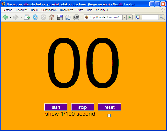 Video timer screenshot